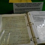 Book with copies of the war depot documents