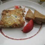 Egg white omelet w mushroom