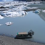 Airboat tour to the face of the Knik Glacier nearby