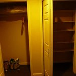 Huge closets and these are only two of them