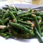 Garllic green beans