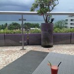 view from pool bar restaurant