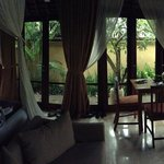 A panorama of the inside of our room