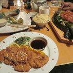 Chicken Katsu w/ fried rice, Salmon teriyaki w/ fried rice