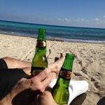 cheers! on the beach