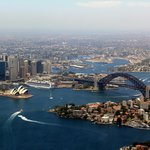 Sydney Harbour from high up