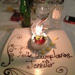 the gorgeous dessert they served me for my birthday!