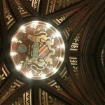 Manchester coat of arms in ceiling