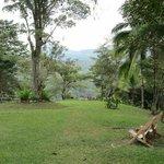 Hacienda front lawn
