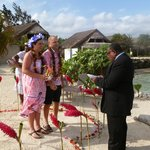 A local village Pastor - our wedding vow renewal ceremony