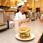 Relax and enjoy the diner atmosphere, where the good times roll!