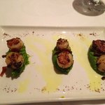 Scallops on pea reduction
