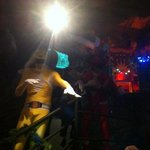 morphin power rangers at new years eve!