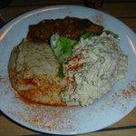 Moussaka, babaganoush et salade du vizie