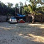 My campsite in the corner