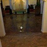 court yard flooded