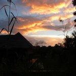 coucher de soleil sur les cases
