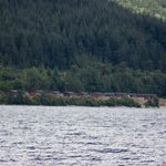 View of lodges from the loch