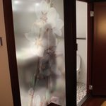 Milky glass bathroom