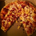 pineapple, onions, bacon and cheese