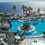Pool from ocean terrace bar