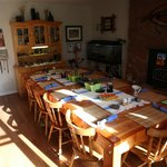 dining room in the morning sun