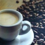 freshly ground espresso coffee.