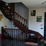Le scale interne per salire alle camere