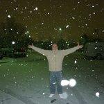 Nieve en el estacionamiento