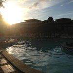 Pool in der Morgensonne