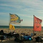 FYM Kite-Base am Strand