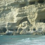 matala cliff caves
