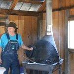 The Blacksmith plying his trade