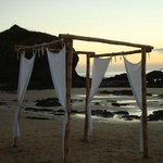 spectacular wedding canopy on the beach