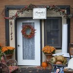 Onsite entrance, displaying Fall & Garden items for sale