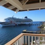 Cruise ship from our patio