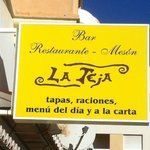 La Teja - signage