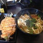 tonkatsu pork and udon soup