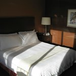 the uber-comfortable Four Seasons bed in the Deluxe King room