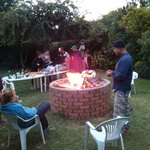 Getting the braai going for dinner