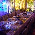 Notre table dressé pour le Nouvel an 2013