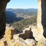 Vue depuis Queribus vers Cucugnan