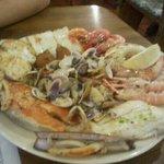 parrillada de marisco y pescado magnifica..