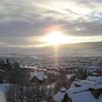 New Year's Day, 2013, gondola sunset over Yampa Valley.