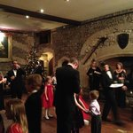 Christmas Eve champagne reception in the Tudor Hall
