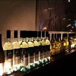 wine collection around room