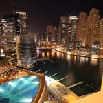 Pool view - night time