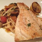 Fish with pasta