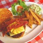 Phuket Pineapple Bacon Cheese Burger.