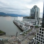 view towards Canada Place